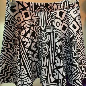 Forever 21 patterned skater skirt